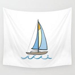Lake Tahoe Sail On Wall Tapestry