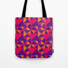 Retro Triangle Block Pattern 2 Tote Bag
