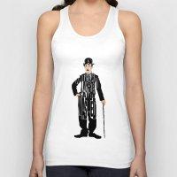 charlie chaplin Tank Tops featuring Charlie Chaplin by A Deniz Akerman