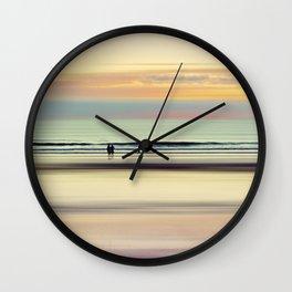 an evening at the beach Wall Clock