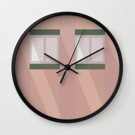 Pink Facade  Wall Clock