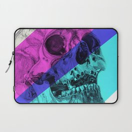 Skull pencil drawing with colour Laptop Sleeve