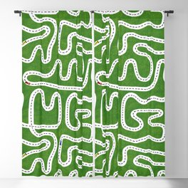 Green Speed Racers Blackout Curtain