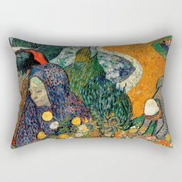 Memory of the Garden at Etten by Vincent van Gogh Rectangular Pillow