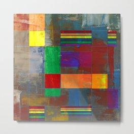 Mid-Century Modern Art - Rainbow Pride 2.0 Metal Print