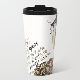 Tufted Titmouse Emma Bell Miles Quote watercolor Travel Mug