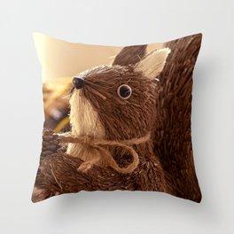 Penita and the pinecone Throw Pillow