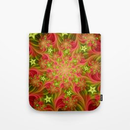 In Paradise, Abstract Fantasy Fractal Art Tote Bag