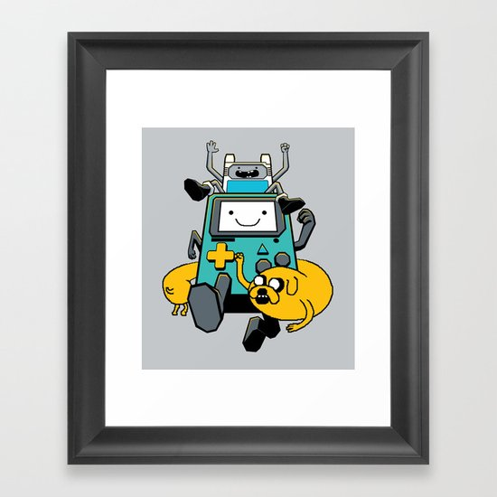 Portable Time! Framed Art Print