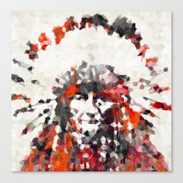 Modern Red Indian Chief - Sharon Cummings Canvas Print