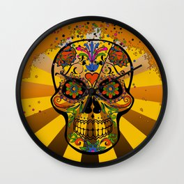 psychedelic Pop Skull 317A Wall Clock