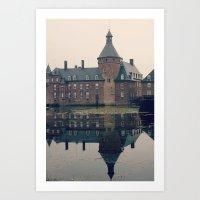 castle Art Prints featuring Castle by DuniStudioDesign