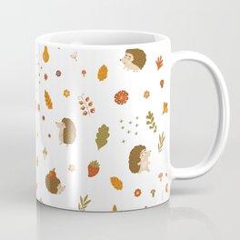 children hedgehog pattern, forest design Coffee Mug