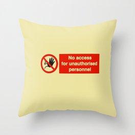 No Access Throw Pillow
