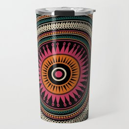 Abstract tribal background Travel Mug