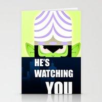 jojo Stationery Cards featuring Mojo Jojo Propaganda  by ArielPerrenot