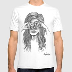 Beauty is within the eye of the beholder - By Ashley Rose Standish Mens Fitted Tee White MEDIUM