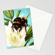 Bee on flower 5 Stationery Cards