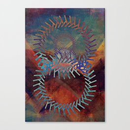 the clamor of the machine Canvas Print
