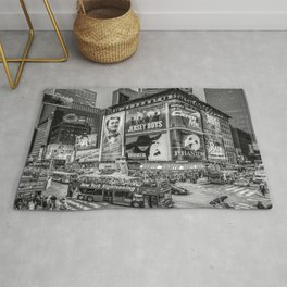 Times Square III Special Edition I (black & white) Rug