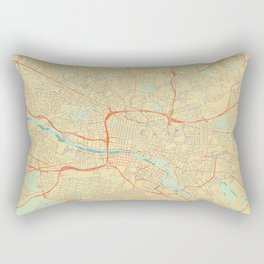 Glasgow Map Retro Rectangular Pillow