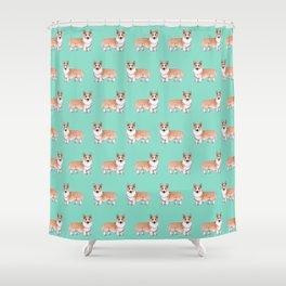 Pembroke Welsh Corgi dog Shower Curtain