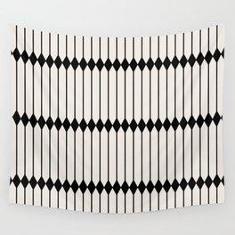 Minimal Geometric Pattern - Black Wall Tapestry