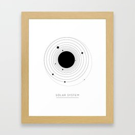 The Solar System (with Pluto) Framed Art Print