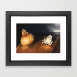 Garlic and Onion Framed Art Print