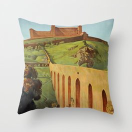 Spoleto Umbria 1927 Throw Pillow