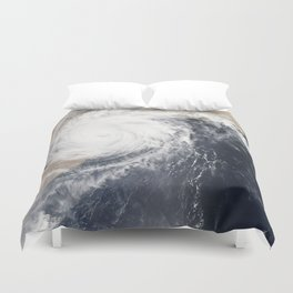 Tropical Cyclone Chapala Over the Gulf of Aden Duvet Cover