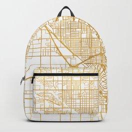 FRESNO CALIFORNIA CITY STREET MAP ART Backpack