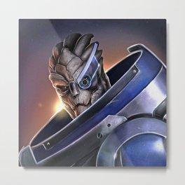 Garrus Vakarian Portrait - Mass Effect Metal Print