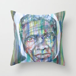 SOJOURNER TRUTH watercolor portrait.1 Throw Pillow
