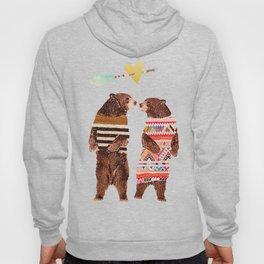 Dancing Bear Couple in Love Hoody