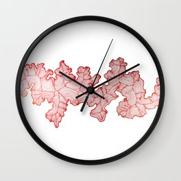 Red Road 1 Wall Clock