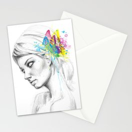 Butterflies Girl Fairy Stationery Cards
