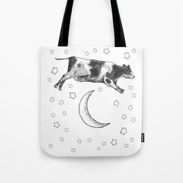 Cow Jumping Over The Moon Tote Bag