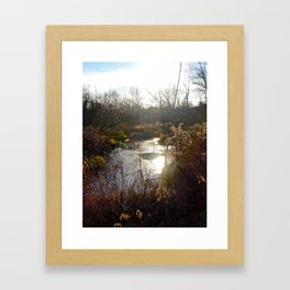 Rambling waters Framed Art Print