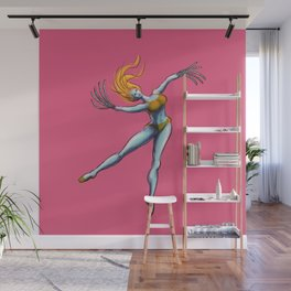 Creepy Dancer Girl With Saw Hands Wall Mural