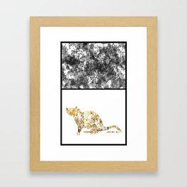 Gold Rat Framed Art Print