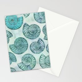 Shimmering Underwater Shell Scenery Aqua Colors Stationery Cards