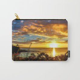 Honokeana Cove Sunset Carry-All Pouch