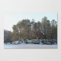 cabin Canvas Prints featuring Cabin by Glasnero