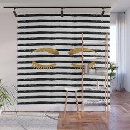Eyes & Stripes Wall Mural