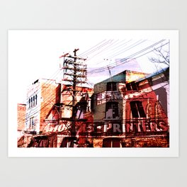 Toronto, Queen Street Art Print