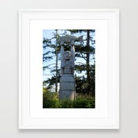 iron maiden Framed Art Prints featuring Maiden by Donna Creamore