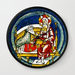 Lifting the First Seal of Apocalypse and the White Rider of War Wall Clock