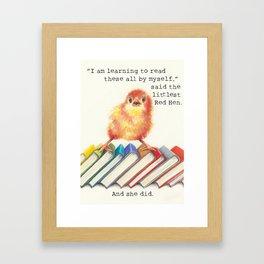Little Red Hen Reads Framed Art Print