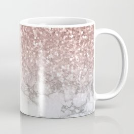 Sparkle - Glittery Rose Gold Marble Coffee Mug